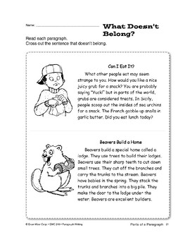 Paragraph Writing: Supporting Details