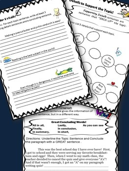Paragraph Writing- Teaching Students HOW to WRITE a Paragraph