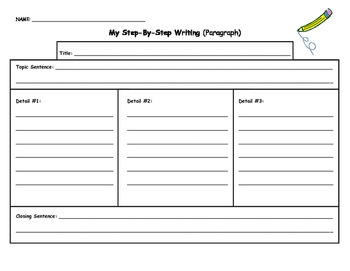 Paragraph Writing Template by The Little Panda | TpT