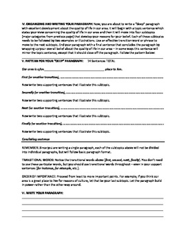 Paragraph Writing: The Fully Developed Paragraph – Paragraphs with DEPTH!