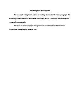 Paragraph Writing Tool