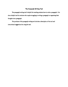 Paragraph Writing Tool