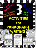 Paragraph Writing- Topic Sentences and Supporting Sentence