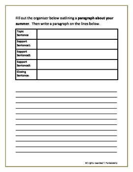 Paragraph Writing Unit