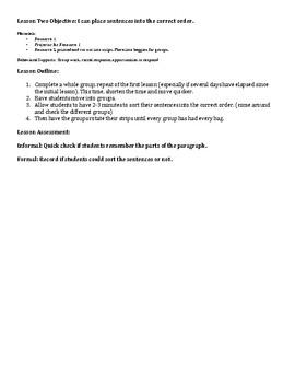 Paragraph Writing Unit and Lesson Plans