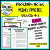 Paragraph Writing   Weekly Paragraph Writing Practice   PDF & Google Slides!
