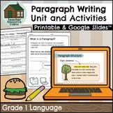 Paragraph Writing Workbook   NO PREP (Grade 1 ONTARIO Writing)
