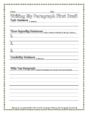 Paragraph Writing Worksheet: 1st Draft