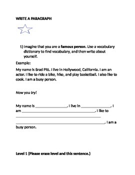 Paragraph Writing for ESL - Multiple Levels