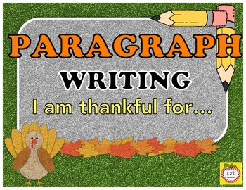 Writers Workshop:  Paragraph Writing - main idea and details
