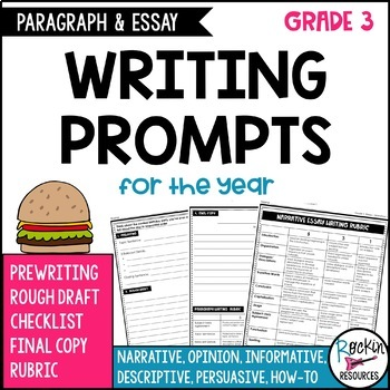 Paragraph Writing Prompts and Essay Writing Prompts for 3rd Grade