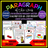 Paragraph of the Week, How to Write a Paragraph, With a PowerPoint Lesson!