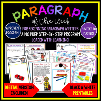 Paragraph Writing, Weekly, Nine Weeks to Mastery
