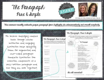 Paragraph and Verb Writing Bundle