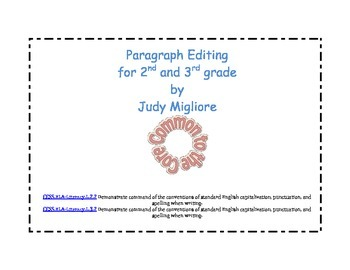 Paragraph editing for 2nd and 3rd grade