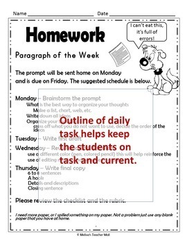 Paragraph of the Week Informative Writing