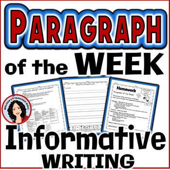 Paragraph of the Week, Informative Writing