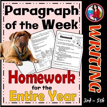 Paragraph Writing   Paragraph of the Week   Informative, Narrative, & Opinion