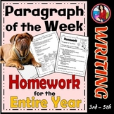 Paragraph Writing Paragraph of the Week Informative, Narrative, & Opinion Bundle