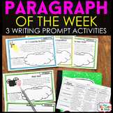 Paragraph of the Week - Paragraph Writing Practice with Writing Prompts FREE