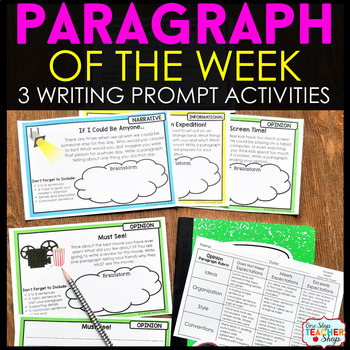 Paragraph of the Week | Paragraph Writing Practice | Google Classroom FREE
