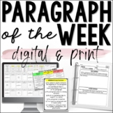 Paragraph of the Week / Writing Paragraphs - Digital & Print