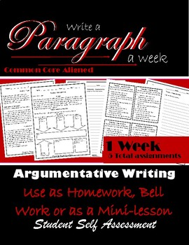 Paragraph Writing: Paragraph of the Week: Argumentative