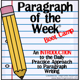 Paragraph of the Week BOOT CAMP
