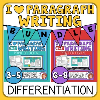 Paragraph of the Week Differentiation Bundle for Grades 5-6 Distance Learning
