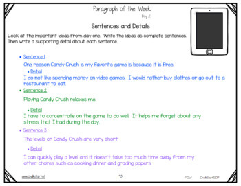 Paragraph of the Week Google Slides Version