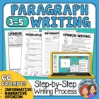 Paragraph of the Week for Paragraph Writing with Prompts and Graphic Organizers