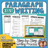 Paragraph Writing Prompts and Printables plus Google Classroom Distance Learning