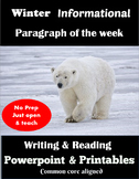 Informational Writing for Winter-Paragraph of the Week