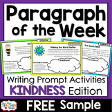 Paragraph of the Week - Paragraph Writing Practice KINDNES