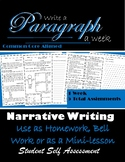 Narrative : Paragraph Writing: Paragraph of the Week