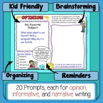 Paragraph of the Week - Paragraph Writing Digital Version for Google Drive