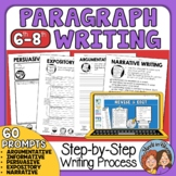 Paragraph Writing How to Write a Paragraph of the Week Grades 6-8 with Digital