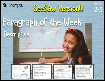 Paragraph of the Week SeeSaw Version