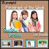 Paragraph of the Week SeeSaw Version Distance Learning
