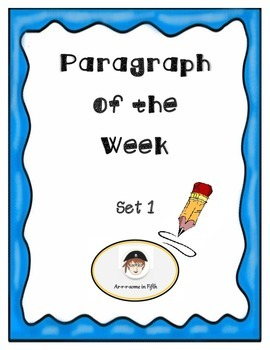 Paragraph of the Week Set 1  with Rubric