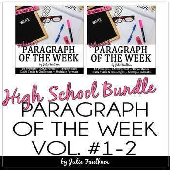 Paragraph of the Week, Text-Based Writing Prompts, Writer's Notebooks BUNDLE