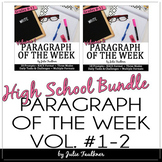 Paragraph of the Week Writing Prompts, High School BUNDLE, Traditional & Digital