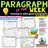 Paragraph of the Week | Writing | Distance Learning | Inde