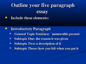 Paragraph to Essay