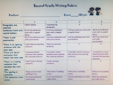 Paragraph writing rubrics for 2nd Grade