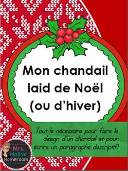 Paragraphe descriptif (Ugly Christmas Sweater Descriptive Paragraph in French)