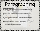 Paragraphing (How to Write a Paragraph)