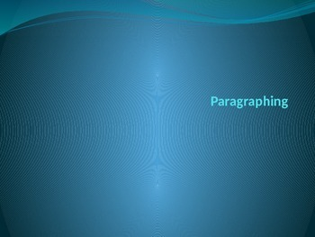 Paragraphing notes