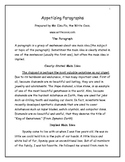 Paragraphs - Basic Structure