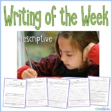 Writing of the Week Descriptive